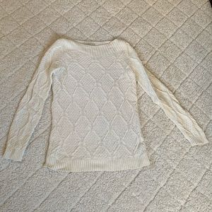 LOFT white/cream sweater